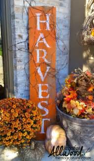 Harvest Home Decor Harvest Sign On Barnwood For Fall Front Porch Decor