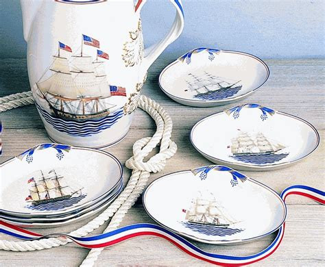 boat dinnerware set nautical plates dinnerware sea life dinner plates sc 1