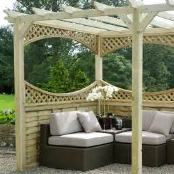 Pergola Wooden by M Amp M 12 X 6 Coppice Wooden Garden Pergola Kit With Panels