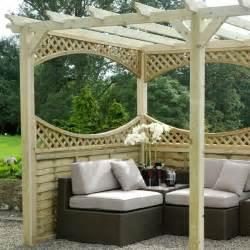 Pergola Kits Uk by M Amp M 12 X 6 Coppice Wooden Garden Pergola Kit With Panels