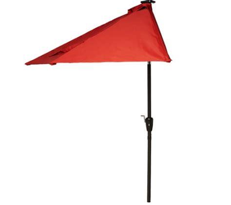 Patio Umbrella With Lights Qvc Atleisure 9 Solar Crank Tilt Balcony Patio Umbrella