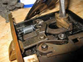 cleaning and repairing an antique mortise door lock