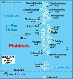 Maldives On World Map by Where Is The Maldives Beautiful Place World