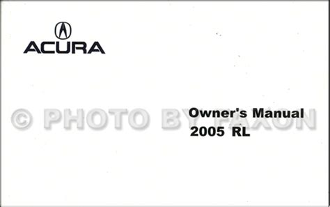 old car owners manuals 2006 acura rl navigation system 2005 2006 acura rl electrical troubleshooting manual original
