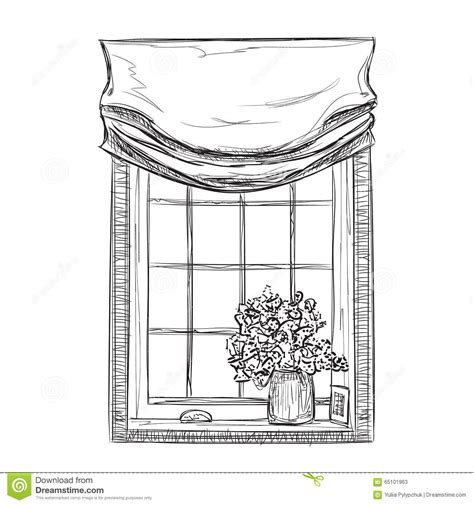 Bow Windows Prices hand drawn windows sketch stock vector image of sketch