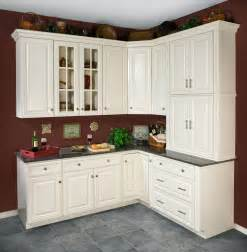 White Antiqued Kitchen Cabinets Antique White Kitchen Cabinets