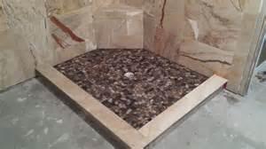 river rock flooring installation floor ideas