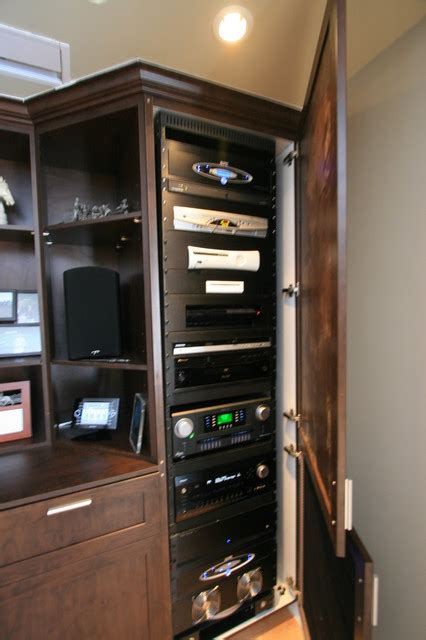 custom av unit modern home theater other metro by