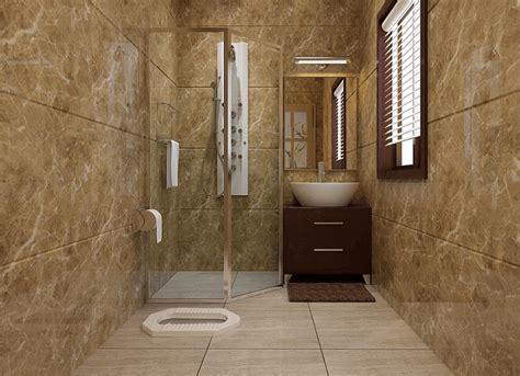 desain kamar mandi dengan kloset jongkok desain kamar mandi minimalis yang biasa dan sederhana