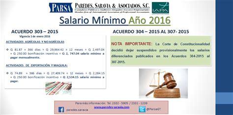 minimo de 2016 acuerdo 303 2015 salario m 237 nimo 2016 paredes saravia