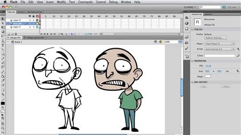 5 Drawing Tools In Adobe Flash by Flash Draw A Character For Animation Part 1 5