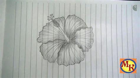 cara menggambar bunga kembang sepatu speed drawing
