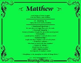 matthew meaning of name