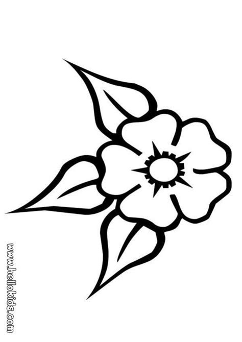 coloring pages of small flowers three leaf flower coloring pages hellokids com