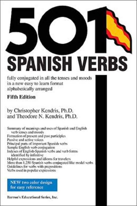 501 spanish verbs 501 143800916x 501 spanish verbs edition 5 by christopher ph d kendris ph d 9780764124280 paperback