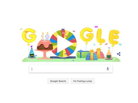 doodle 4 form unwraps 19 past doodle for its 19th birthday