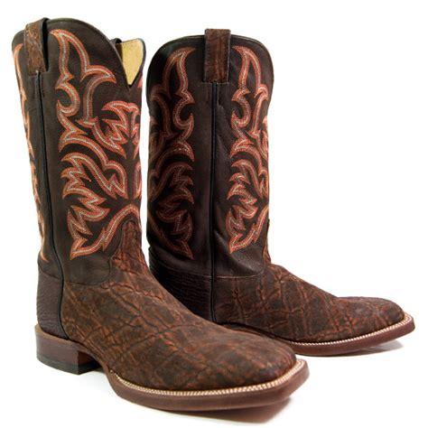 elephant skin boots justin alcalas western wear s cognac elephant cowboy