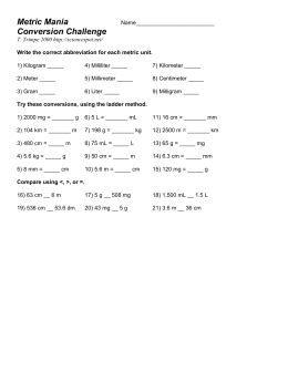 Metric Mania Worksheet by Worksheets Metric Mania Worksheet Opossumsoft Worksheets