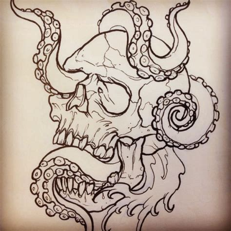 skull octopus tattoo 45 octopus skull designs and ideas