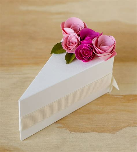 Wedding Box Cake by Paper Cake Slice Favor Boxes Wedding Decor Guest