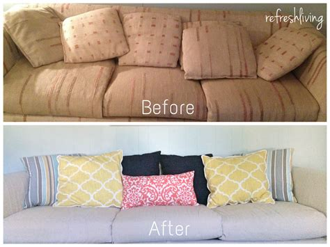 how to cover an ugly couch diy how to slip cover an ugly garage sale sofa
