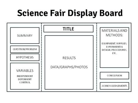 Science Project Display Board Template Fold Layout Fair Flybymedia Co Science Fair Project Templates