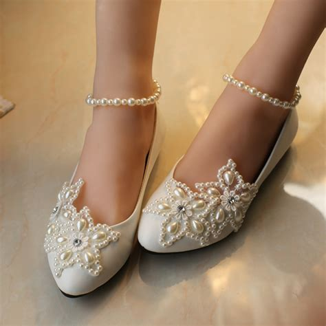 bridesmaid slippers 2015 white five pointed pearl rhinestone