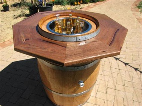 Outdoor Coffee Table Fire Pit - awesome wine barrel furniture ideas that you will have to see