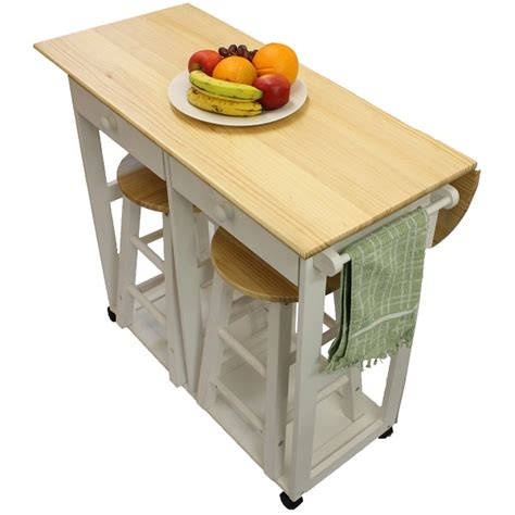 Kitchen Breakfast Bar Table Maribelle Folding Table And Stool Set Kitchen Breakfast Bar White Ebay