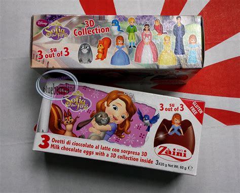 Zaini Chocolate Egg Sofia zaini disney sofia the chocolate 3 eggs with figure inside choco kid