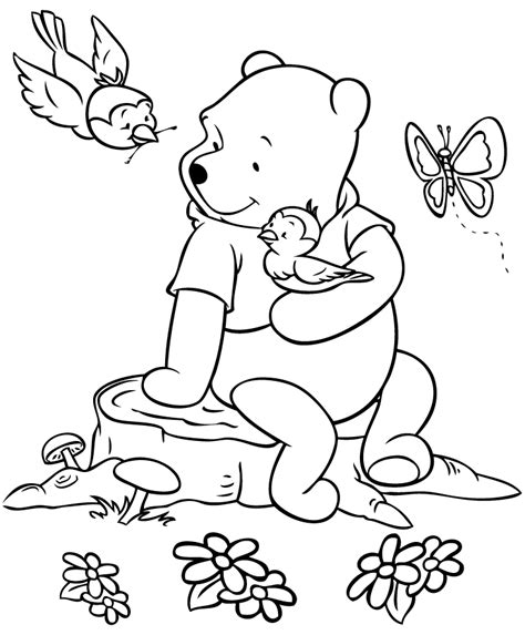 pooh coloring pages winnie the pooh color sheets coloring home