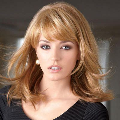 hairstyles with blended bangs contemporary longer bangs blend into the layered sides to