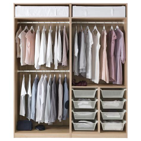 ikea striberg pax wardrobe white stained oak effect auli sekken