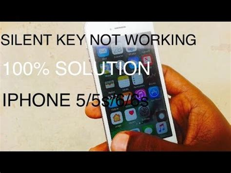 iphone scss silent key  working