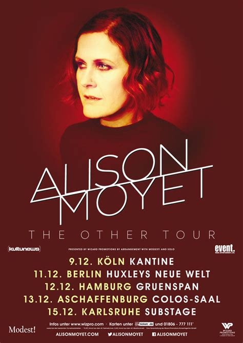Alison Moyet Other 1cd 2017 alison moyet the other tour 2017 wizard promotions