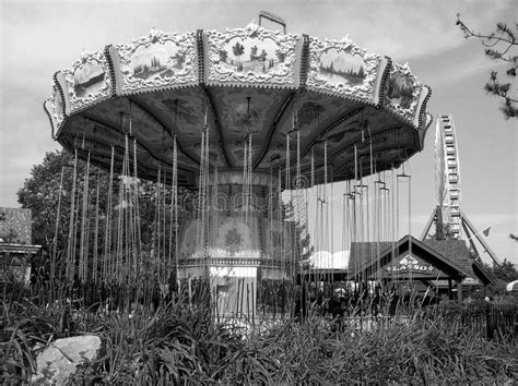 haunted swing ride abandoned amusement park stock photo image of desaturated