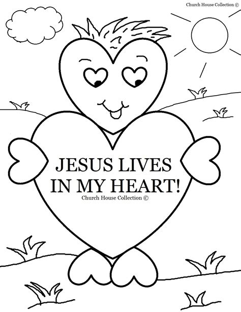 church house collection blog jesus lives heart coloring sunday valentine