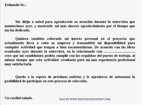 ejemplos de cartas de agradecimiento por participar en un ejemplo carta de agradecimiento despues de la entrevista