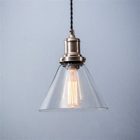 shaped pendant light hoxton cone glass pendant light