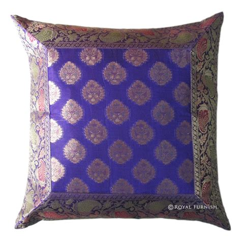 floral couch pillows indian silk brocade floral throw pillow sham for couch