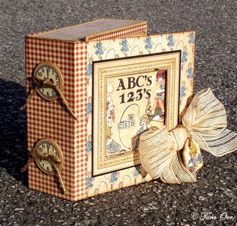 graphic   abc primer mini album altered box