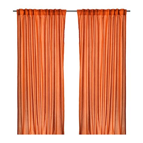 Orange Panel Curtains Ikea Vivan Curtains Drapes Orange 2 Panels
