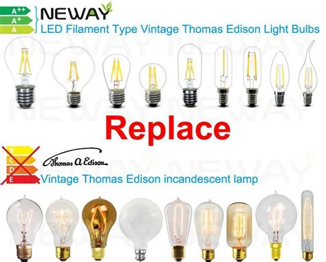 edison type light bulbs 3 5w led filament type vintage edison light bulbs