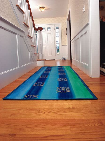 How To Make Floor Mat From Clothes by Make A Floor Cloth The Colorful Canvas Carpet Diy