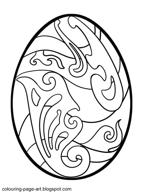 egg pattern drawing curlicue easter egg colouring page colouring page art