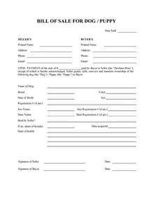 free dog or puppy bill of sale form pdf word do it