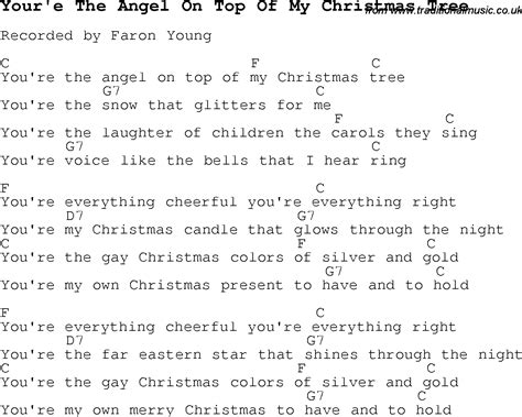 christmas carol song lyrics with chords for your e the