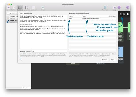alfred app workflows using variables in workflows alfred help and support