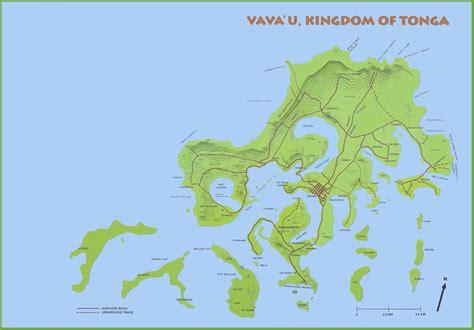 tonga on a world map vavau island map