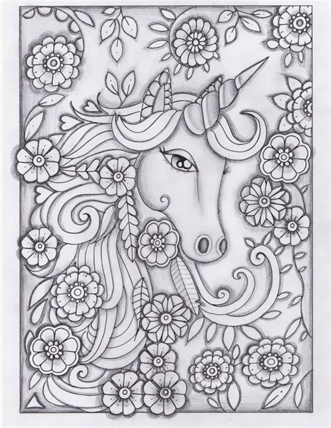 unicorn coloring book for adults unicorn greyscale drawing unedited coloring pages